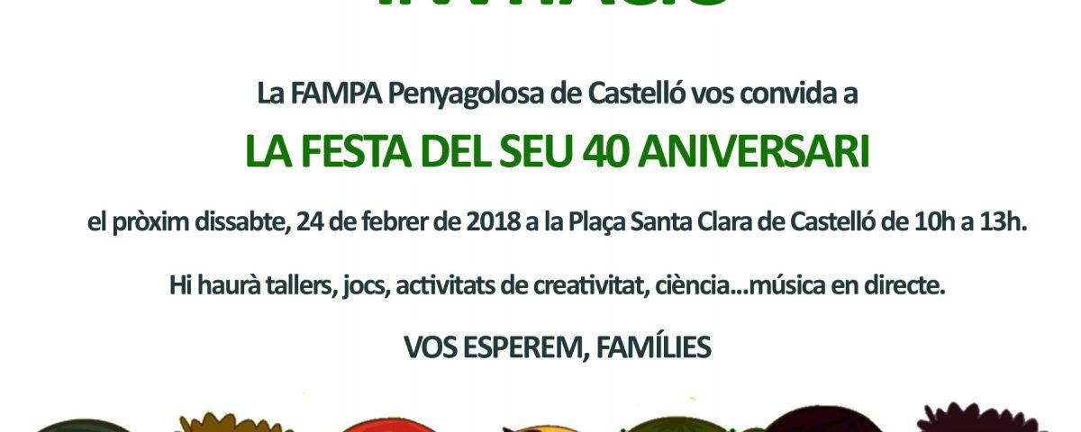 INVITACIÓ 40 aniversari fampa castello